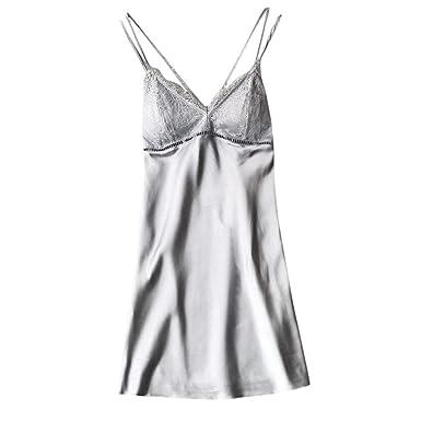 8bfd0eef16d Qvwanle Women Sexy Lace Lingerie Nightwear Babydoll Sleepwear Dress  Charming Gift for Lovers (M