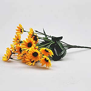 1 Bouquet 14 Heads Artificial Small Sunflower Home Wedding Christmas Decorations 1