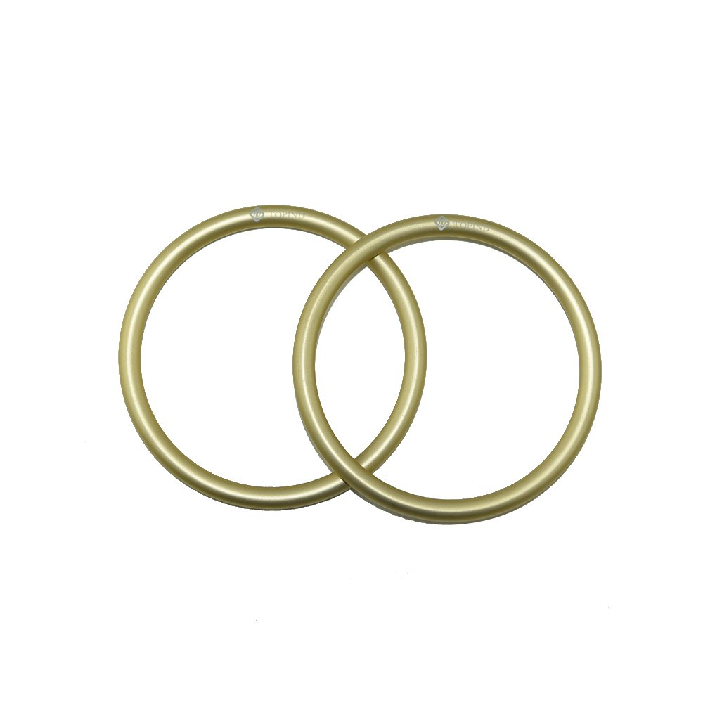 Topind 3 Large Size Aluminium Baby Sling Rings For Baby Carriers Slings Of 2 Pcs Gold