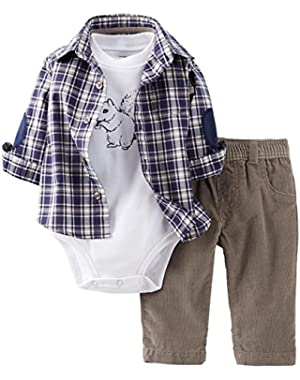 Carter's Baby Boys' 3 Piece Layette Set (Baby) - Gray