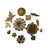 Graceangie Wholesale 100 piece/pack 4-70 mm Anchor Charm Mixed Metal Stamp Silver Bronze Tone Rudder Fashion Necklace Bracelet Pendants Jewelry Crafts Jewelry Making/Findings