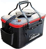 FuTaiKang Foldable Fishing Bucket (6Gal), Multifunctional Portable Folding Bait Bucket for Outdoor Camping EVA