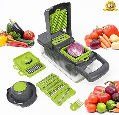YIHGJJYP Cortador de Verduras Cocina Accesorios de Mandoline Slicer Cortador de la Fruta de la Patata policía de la…