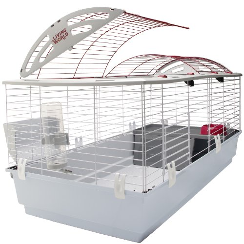 - Living World Guinea Pig, Rabbit, Ferret Cage - X-Large Deluxe Hutch