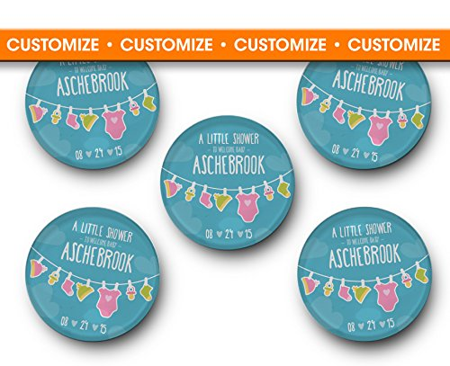Amazoncom Baby Shower Glass Magnet Favors Personalized Gift