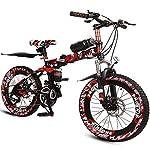 510mTv7pumL. SS150 Xiaoping Kids Bike, Kids Bike, 6-15 Anni Ragazzo Speed Bike, Mountain Bike, Camo Rosso