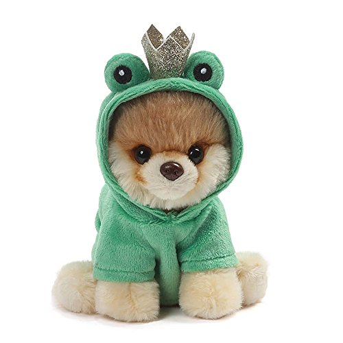 Frog Plush Toy - GUND World's Cutest Dog Boo Itty Bitty Boo #048 Frog Prince Stuffed Animal Plush, 5