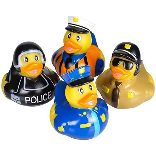 Rhode Island Novelty Assorted Police Law Enforcement Rubber Duckies (12) -
