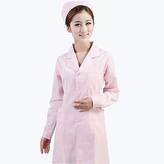 QZHE Abbigliamento medico Uniforme Medica del Risvolto di Cura dei Vestiti Medici del Cappotto del Camice Dell'Ospedale