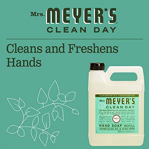 Mrs. Meyer's - Liquid Hand Soap Refill, Basil - 33 Ounce