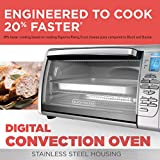 BLACK+DECKER CTO6335S 6-Slice Digital Convection Countertop Toaster Oven, Includes Bake Pan, Broil Rack & Toasting Rack, Stainless Steel Digital Convection Toaster Oven