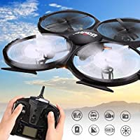 Fytoo UDI U818A HD 2.4GHz 4 CH 6 AXIS Headless RC Quadcopter with HD Camer With Return Home Function
