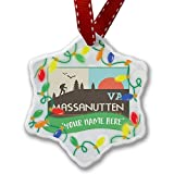 Personalized Name Christmas Ornament, US Hiking Trails Massanutten Trail - Virginia NEONBLOND