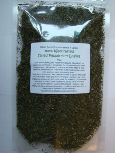 Peppermint Leaf Dried ~ Wildcrafted Tea Leaves ~ 4oz ~ 1/4 pound lb ~WHITE LABEL PREMIUM HERBS AND SPICES~~~ VERY AROMATIC AND POTENT ~ Great for Indigestion and Heartburn ~
