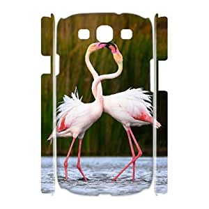HOPPYS Riverbanks flamingo romantic Bird Phone 3D Case For Samsung Galaxy S3 I9300 [Pattern-4]