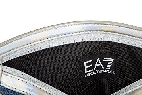 Emporio Armani EA7 sac pochette femme train indigo wallet blu