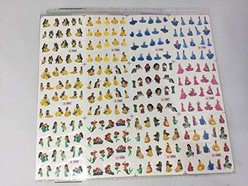 Disney Princess Nail Art Stickers - 240 Stickers