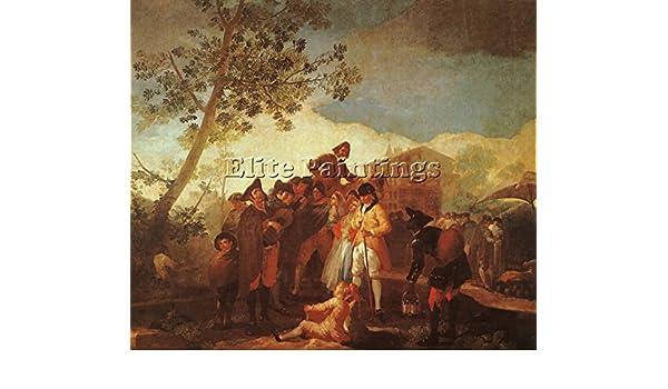Francisco Goya Ciegos Hombre tocando la guitarra artista pintura ...