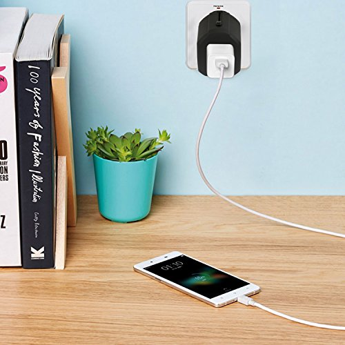 Fuse Box Usb Wall Charger : Travel adapter urophylla universal dual fuses a