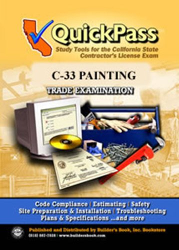 QuickPass Study Tools for the C-33 Painting License Examination - CD-ROM ebook
