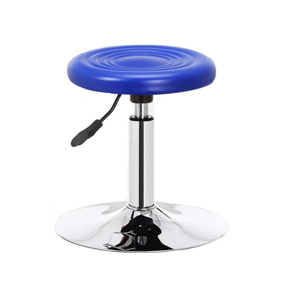 bluee Disc Dall Bar Stools PU Kitchen Swivel Bar Chairs Breakfast Chrome Adjustable Seat Height (color   Black, Size   Disc)