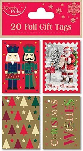 Navidad Regalo de lujo etiquetas 20 Pack Kids Set Infantil de Navidad presenta calidad Wrap: Amazon.es: Oficina y papelería