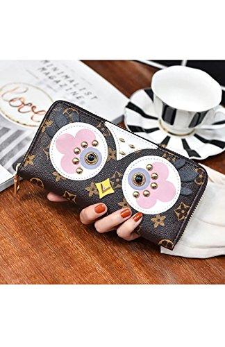 ppy Coin Purse, Birdie Owl Zipper Wallet Lovely Birds Monogram Canvas Bag Charm Key Holder (Louis Vuitton Bag Charm)