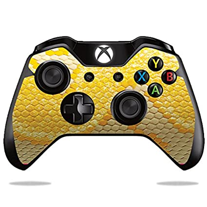 MightySkins Protective Vinyl Skin Decal for Microsoft Xbox One/One S  Controller Case wrap Cover Sticker Skins Albino Python