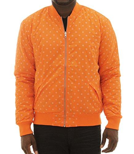 Diamond Supply Co Men's Reversible Snow Bomber Jacket-Orange-M (Orange Jacket Flight Reversible)