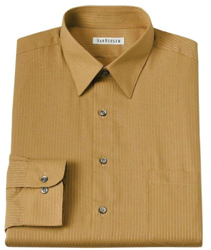 Van heusen mens classic fit satin stripe dress shirt 15 for Van heusen men s regular fit pincord dress shirt