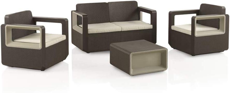Shaf Venus Conjunto Muebles Sofa 2 Plazas + 2 Sillones: Amazon.es: Jardín