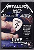 big 4 metallica - Heavy Metal DVD, Metallica Slayer Megadeth Anthrax/ Big FOUR 4 Live 2 DVD[Region Code : 2-6 Worldwide excl. N. America ] *NEW*