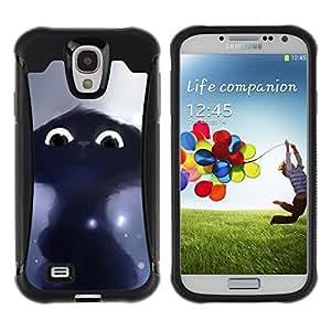 Suave TPU GEL Carcasa Funda Silicona Blando Estuche Caso de protección (para) Samsung Galaxy S4 IV I9500 / CECELL Phone case / / Drawing Cat Black Cute Eyes Painting /