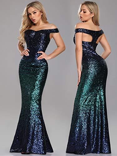 e7c719ef3 V Mujer 8999 Oscuro Vestidos Sirena Cuello Para Verde Vestido Elegantes De Ever  pretty Noche 1TUwqxH8