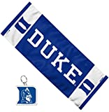 WinCraft Bundle 2 Items: Duke University Blue Devils 1 Cooling Towel 12x30 inches and 1 Premium Acrylic Key Ring