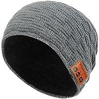 Pococina Wireless Hands-Free Bluetooth Beanie Hat Sport Speaker Knit Cap, Built-in Mic