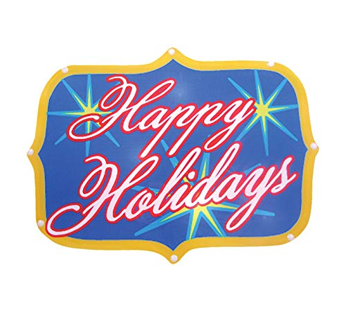 Brite Star Battery Operated 20 Light LED Happy Holidays Sign ()