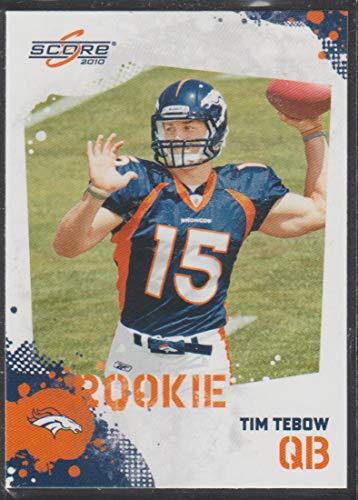 2010 Score Tim Tebow Broncos Rookie Football Card #396