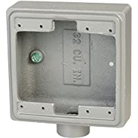 Weatherproof Electrical Box, 2-Gang, 1-Inlet, Aluminum - 1 Each
