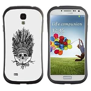 Suave TPU GEL Carcasa Funda Silicona Blando Estuche Caso de protección (para) Samsung Galaxy S4 I9500 / CECELL Phone case / / Indian Chief Headgear Feathers Native /