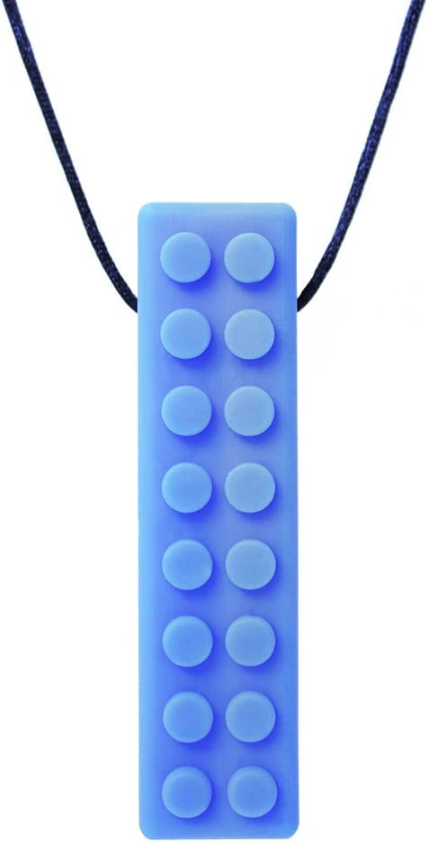 ARK's Brick Stick XXT Textured Chew Necklace Made in The USA (Very Firm, Blue)