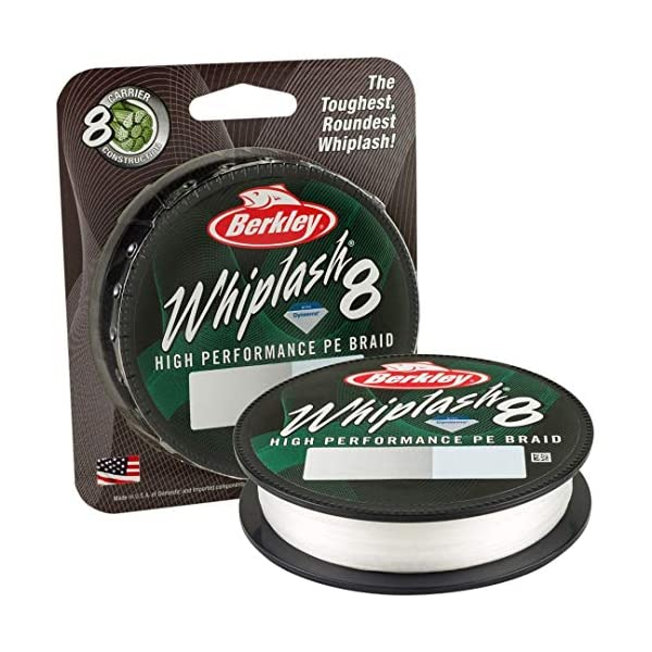 Braid Fishing Line 50LB Berkley Whiplash 8 Crystal 0.18mm