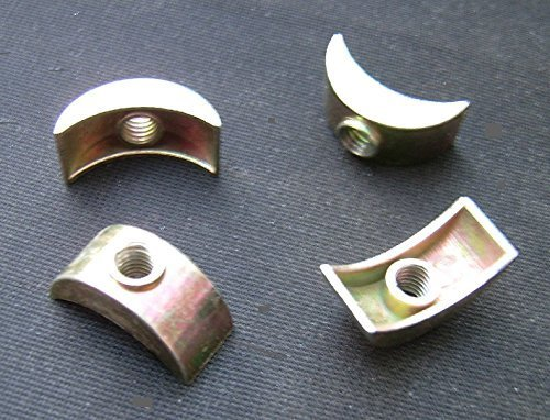 direct-fittingsuk.com Pk 4.Bed/Bunk/bolt FULL SIZE Half Moon Nuts/Washers. 25mm x 12mm. 6mm thread.CAST Alloy (pk 4)