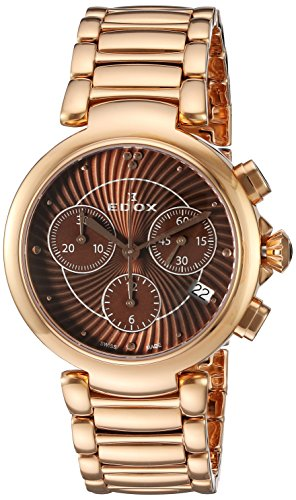 Edox Women's 10220 37RM BRIR LaPassion Analog Display Swiss Quartz Rose Gold Watch