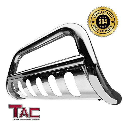 "TAC Bull Bar for 2016-2018 Toyota Tacoma (Remove Skid Plate- If Equipped) Pickup Truck 3"" T304 Stainless Steel Front Brush Bumper Guard Grille Guard Push Guard Off Road Automotive Exterior Accessories"