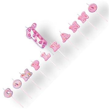 Kerzen Kuchen Spruch 1 Geburtstag Pink Magic Party Amazon De Spielzeug
