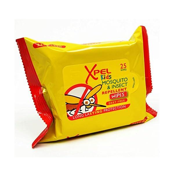 Xpel Bambini Zanzara & Repellente Insetti Salviettine - 25 Per Confezione 1 spesavip