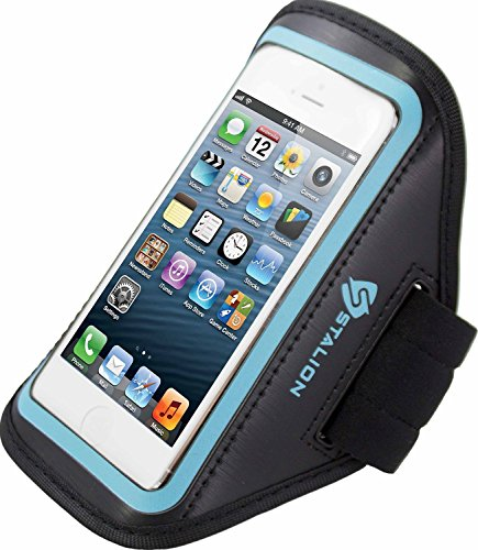 iPod Touch 4th Armband: Stalion Sports Running & Exercise Gym Sportband (Cyan Blue) Water Resistant + Sweat Proof + Key Holder