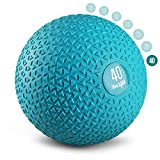 Yes4All Slam Balls (Teal) 40lbs for Strength and Crossfit Workout – Slam Medicine Ball, Trendy Teal (PCT7)