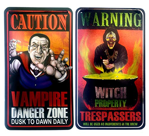 RDC Halloween Witch and Vampire Signs Party Decorations